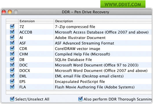 Mac USB Drive Data Recovery screenshot pen drives file retrieval